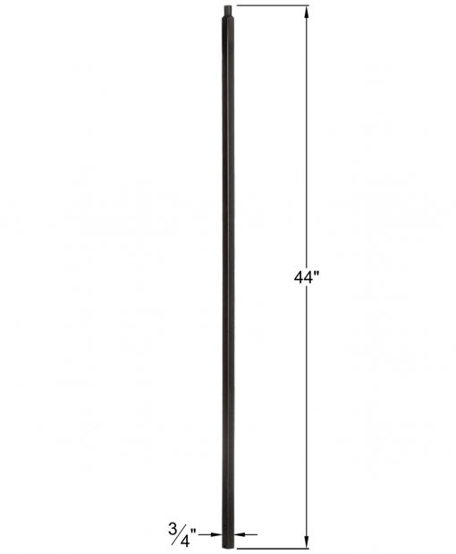 "HF34.2.1-T: Mega 3/4"" Hollow Square 18 Gauge Aluminum Baluster Dimensions"