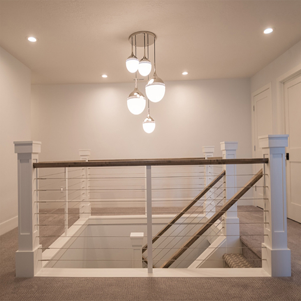 CL-WDFTGS-SS and CR-WDFTGS-SS Cable Fittings, CABLE-SS Stainless Steel Cable, LJ-5360 Balusters (as cable support) Custom Box Newels, 684 Handrail