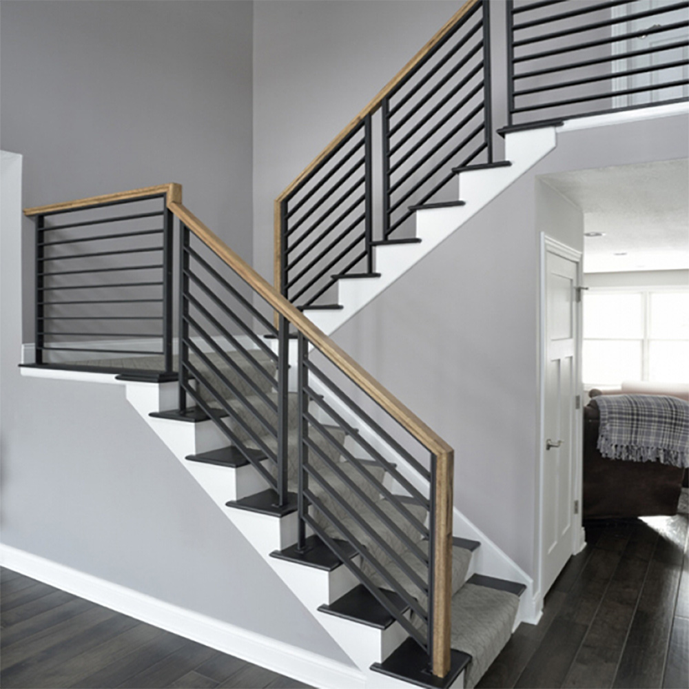 PR-O2436 Linear Stair Panels, PL-CE3643 Linear Level Panels, P-POST2H Panel Posts, 684 Handrail