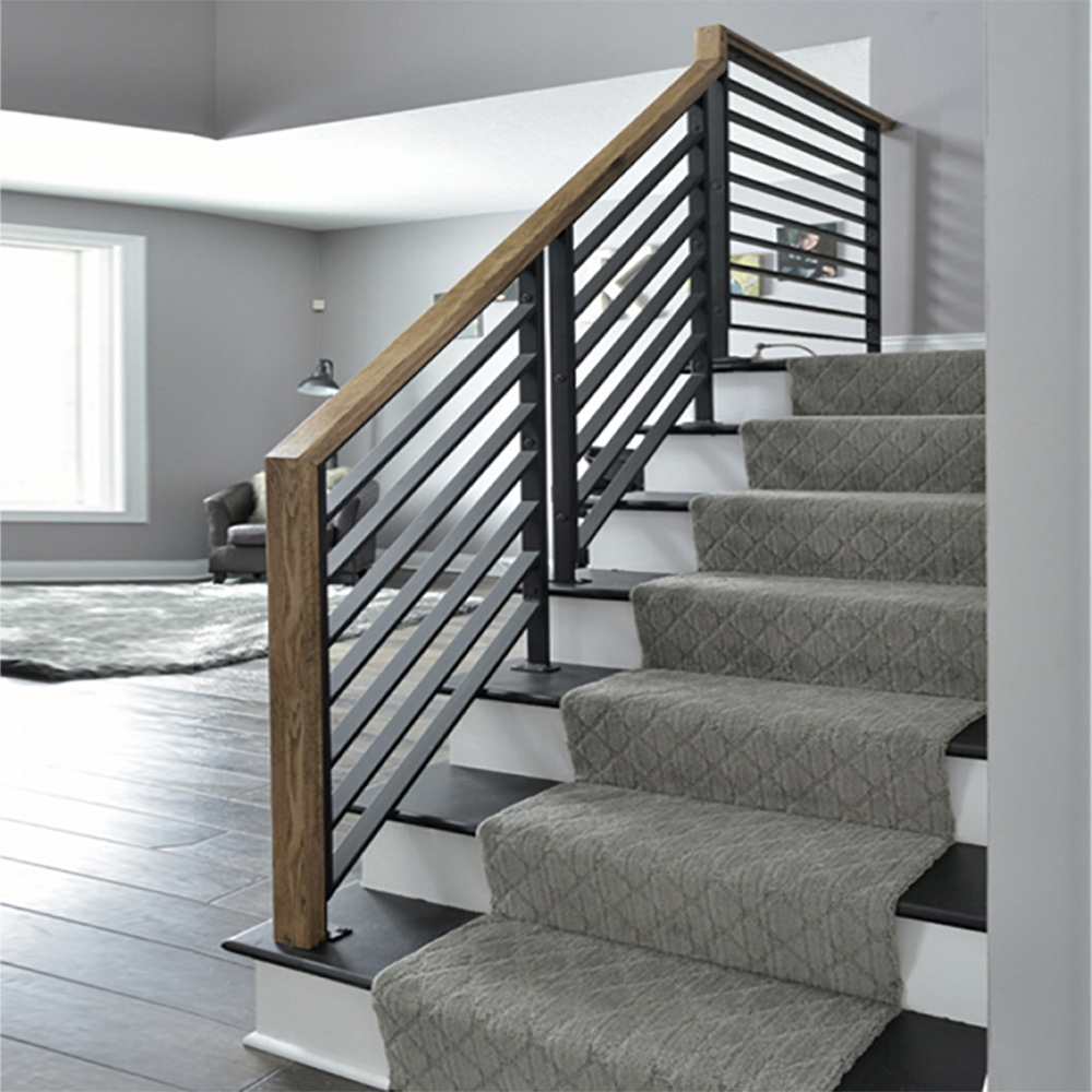 PR-O2436 Linear Stair Panels, PL-CE3643 Linear Level Panel, P-POST2H Panel Posts, 684 Handrail
