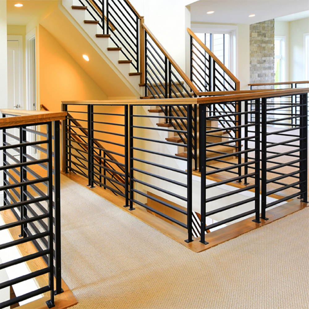 "PR-O3036 and PR-O2436 Linear Stair Panels, Linear 38"" Level Panels in Various Widths, P-POST2H Panel Posts, 684 Handrail"