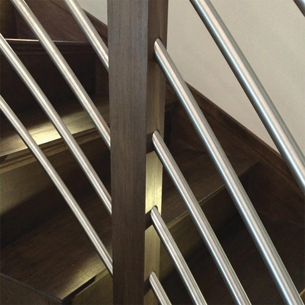 TUBE-SS Stainless Steel Tube, TR-420-36 Linear Wood Newel