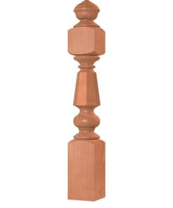"OP-3750-800-VIC-OCTB: 8"" Octagon Barrel Grand Estate Newel"