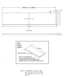 "LJ-807010X1RV: 10 1/2"" Reversible Tread with Mitered Return on One End - CAD Drawing"