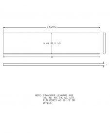 "LJ-807011X: 11 1/2"" Stair Tread CAD Drawing"