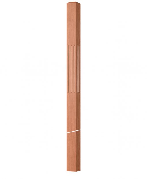 """OP-4019-350-F: 3 1/2"""" Fluted Intersection or Winder Newel Post"""