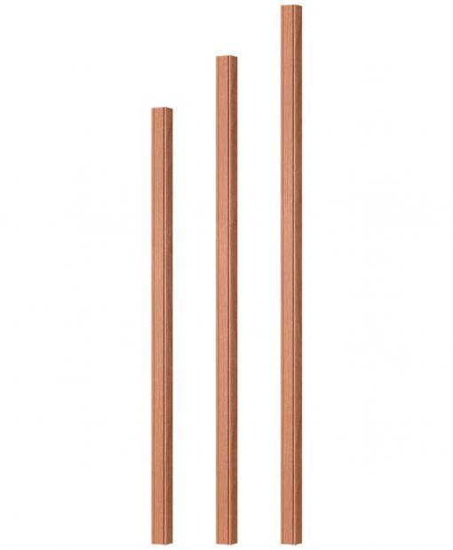 "OP-5060-125-BC: 1 1/4"" Beaded Corner Square Baluster"