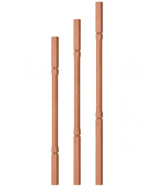 """OP-5060-125-CG: 1 1/4"""" Chamfered & Grooved Square Baluster"""