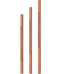 """OP-5060-125-F: 1 1/4"""" Fluted Square Baluster"""