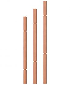"OP-5060-125-G: 1 1/4"" Grooved Square Baluster"