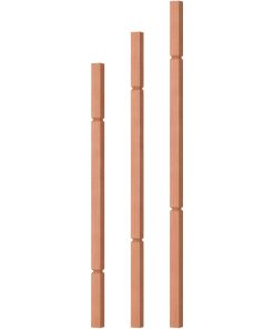 """OP-5060-125-G: 1 1/4"""" Grooved Square Baluster"""