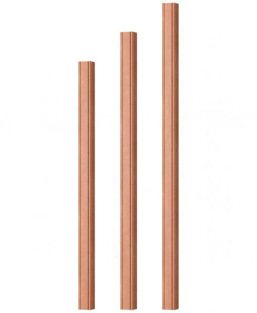 "OP-5360-175-BC: 1 3/4"" Beaded Corner Square Baluster"