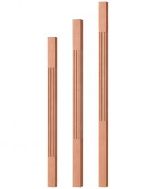 "OP-5360-175-F: 1 3/4"" Fluted Square Baluster"