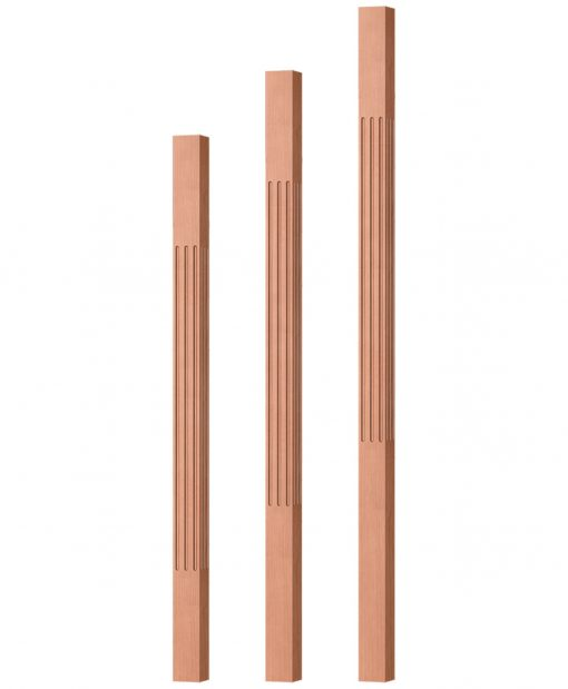 """OP-5360-175-F: 1 3/4"""" Fluted Square Baluster"""