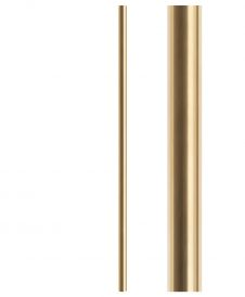 "HF18.8.3: Soho 1 3/16"" Hollow Round Brass Newel"