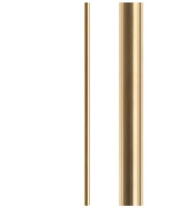"HF18.8.3: Soho 1 3/16"" Hollow Round Brass Newel"