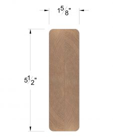 LJ-6003: Finger-Jointed Contemporary Handrail Dimensions
