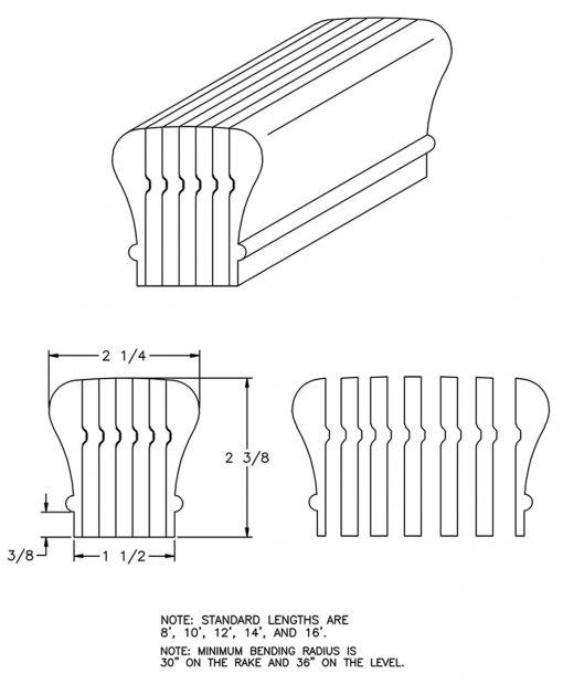 LJ-6010B: Bending Handrail CAD Drawing