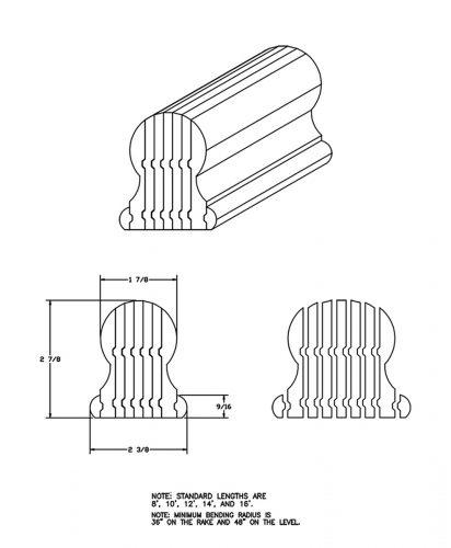 LJ-6109B: Bending Handrail CAD Drawing