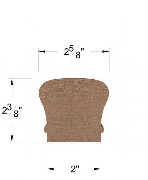 LJ-6210B: Bending Handrail Dimensions