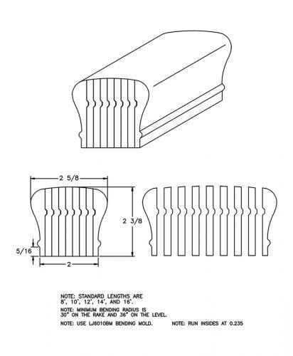 LJ-6210B: Bending Handrail CAD Drawing