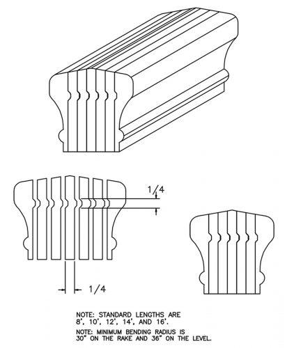 LJ-6601B: Bending Handrail CAD Drawing