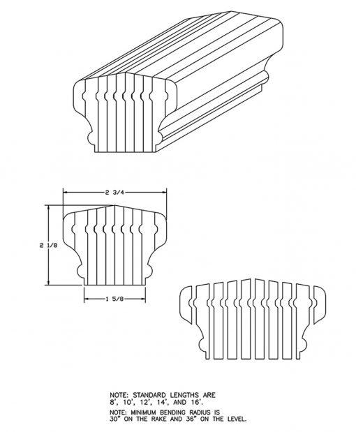 LJ-6701B: Bending Handrail CAD Drawing