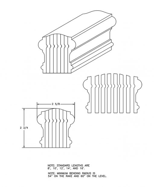 LJ-6900B: Bending Handrail CAD Drawing