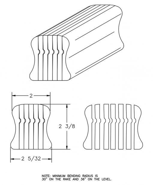 LJ-6A10B: Bending Handrail CAD Drawing