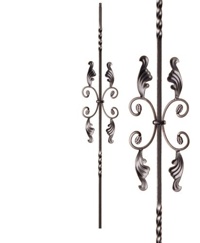 "HF16.1.16: Twist Series 1/2"" Solid Square Iron Twist and Scroll Baluster"