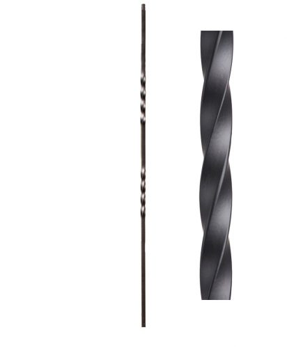 "HF16.1.2: Twist Series 1/2"" Solid Square Iron Twist Baluster"