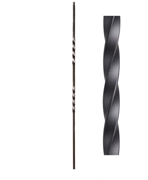"HF16.1.2-T: Twist Series 1/2"" Hollow Square Iron Twist Baluster"