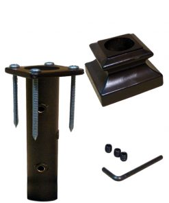 "HF16.3.33: Iron Newel Mounting Kit with Level Base Shoe for 1"" Round Newel"