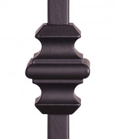 """HF16.5.1: Adjustable Aluminum Knuckle with Set Screw for 1/2"""" Square Iron Balusters"""