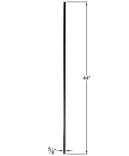 """HF16.8.1:  5/8"""" Hollow Round Iron  Baluster Dimensions"""