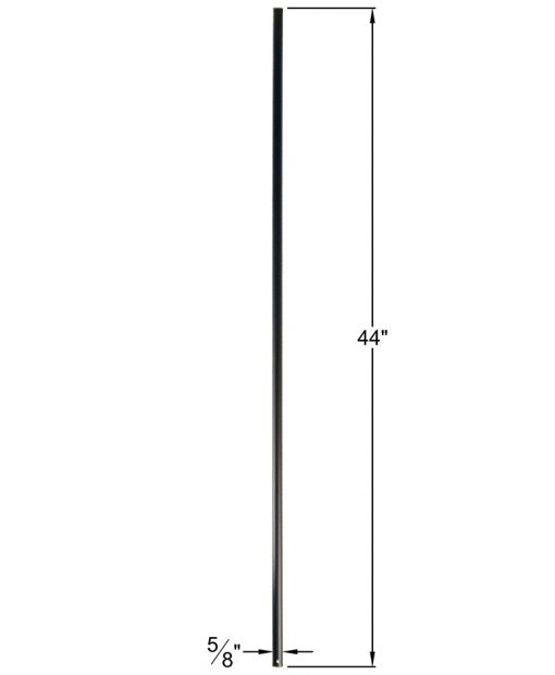"HF16.8.1:  5/8"" Hollow Round Iron  Baluster Dimensions"