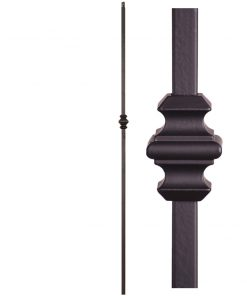 "HF16.8.10: Designer Series 5/8"" Hollow Square Iron Knuckle Baluster"