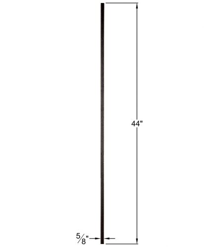 "HF16.8.6: Designer Series 5/8"" Hollow Square Iron Baluster Dimensions"