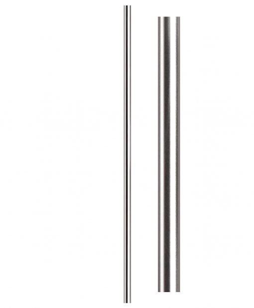 "HF17.1.2-T: Hollow 1 3/16"" Round 304 Grade Stainless Steel Newel"