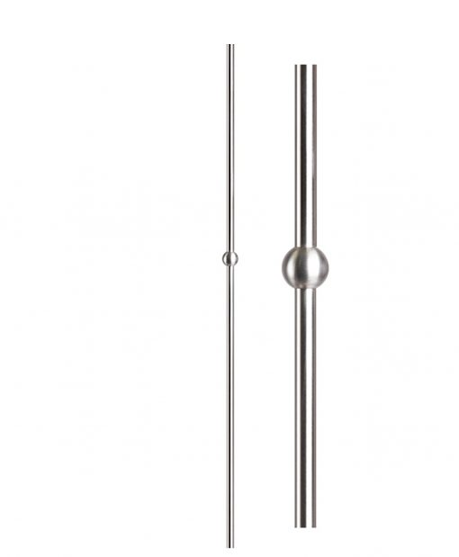 "HF17.11.21-T: Hollow 9/16"" Round 304 Grade Stainless Steel Sphere Baluster"