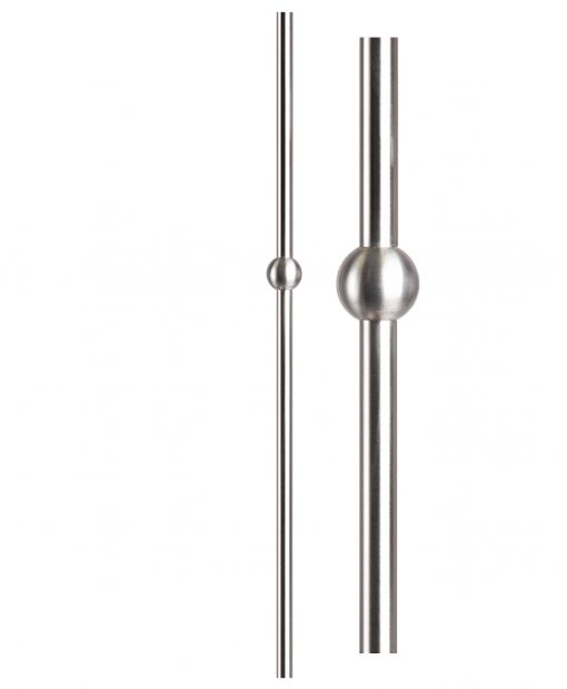"HF17.12.1-T: Hollow 1 3/16"" Round 304 Grade Stainless Steel Sphere Newel"