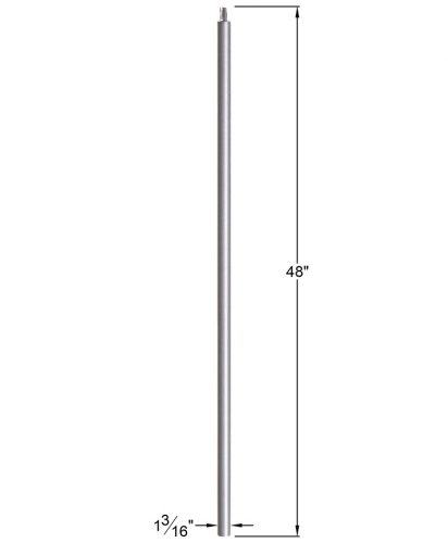 """HFAG16.5.11-T: 1 3/16"""" Hollow Round Iron  Newel Dimensions"""