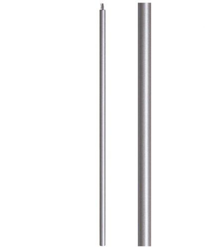 "HFAG16.5.11-T: 1 3/16"" Hollow Round Iron  Newel (Ash Grey)"