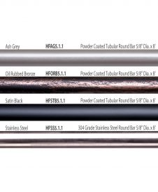 "HF5.1.1: 5/8"" Hollow Round 12 Gauge Horizontal Railing Overview"