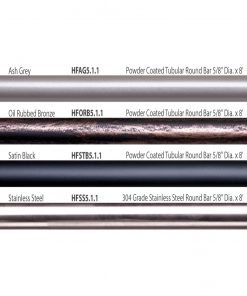 "HF5.1.1: 5/8"" Hollow Round 12 Gauge Horizontal Railing Overview"