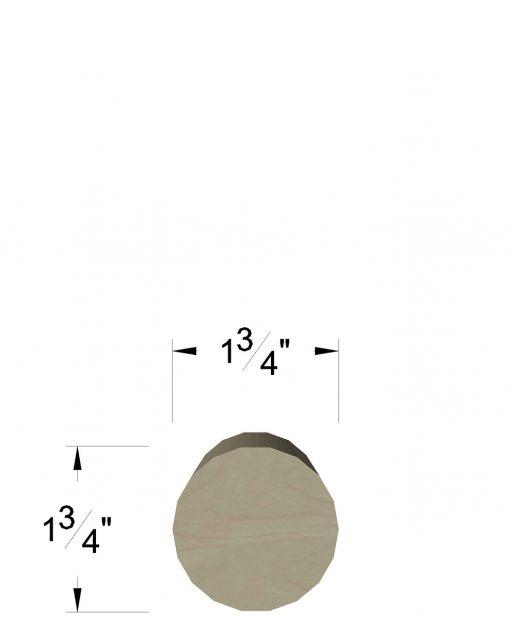 """LJ-6039: 1 3/4"""" Round Wall Rail"""