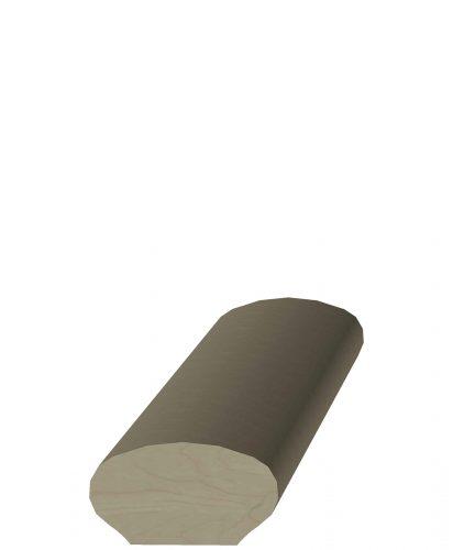 "LJ-6042: 2 1/4"" Oval Wall Rail with 1 1/4"" Flat Base"