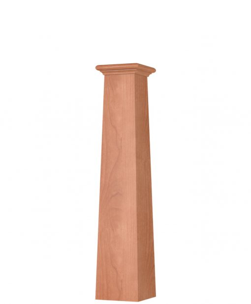 OP-4293T: 8 1/2 Inch Square Tapered Box Newel Post