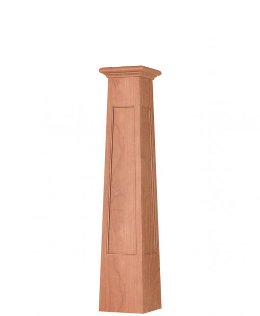 OP-4293T-FP: 8 1/2 Inch Square Tapered Flat Panel Box Newel Post