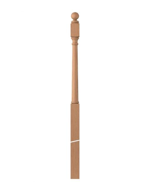 """LJ-4053BT: 3"""" Universal Newel Post with Ball Top"""